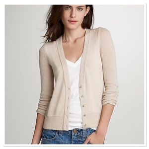 J. Crew Dulphine shimmer bling-button cardigan